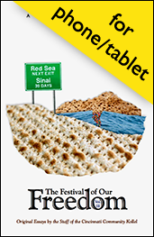 Click here for a PDF of our third Passover reader, in a single-page format